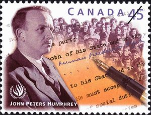 John Peters Humprey - drafter of the Universal Declaration of Human Rights